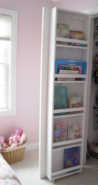 Storage closet door