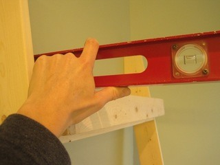 Leaning Wall Shelves Part 7: Attaching the shelves