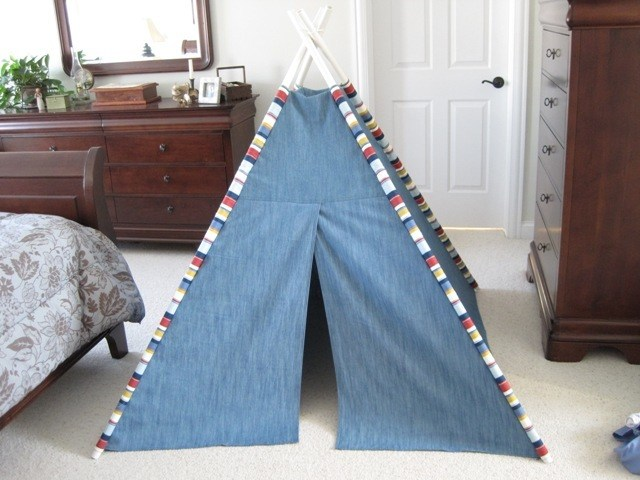 Teepee made from the DIY Teepee sewing tutorial